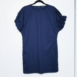 COS lagenlook blue gathered sleeves dress size 4